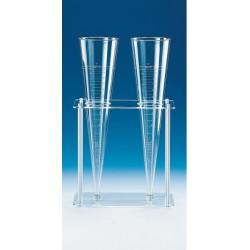Gestell PMMA/PP für 2 Sedimentiergefäße aus Kunststoff
