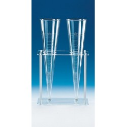 Imhoff cone rack PMMA/PP for 2 Imhoff sedimentation cones