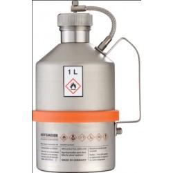 Pojemnik na substancje łatwopalne zawór nadciśnienia w zakrętce