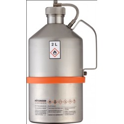 Safety transportation can with screw cap stainless steel 2L