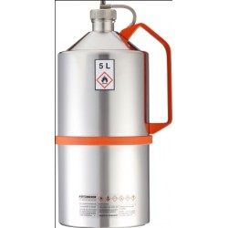 Safety can with screw cap pressure control device stainless