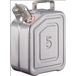 Safety canister with screw cap stainless steel 5L