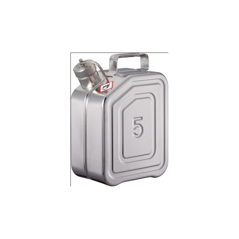 Sicherheitskanister mit Schraubkappe Edelstahl 5L