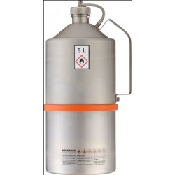 Safety transportation can with screw cap stainless steel 5L