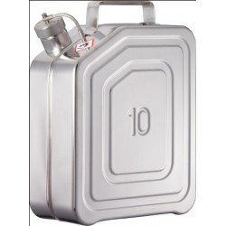 Safety transportation canister with screw cap stainless steel