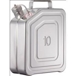 Sicherheits-Transportkanister mit Schraubkappe Edelstahl 10L