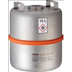 Safety collection barrel with centered plug stainless steel 10