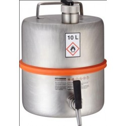 Safety barrel with tap separate ventilation pressure control