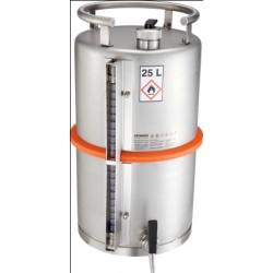 Beczka na substancje palne wylew odpowietrzenie zawór bezp.