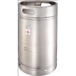Safety barrel mit screw cap pressure control valve stainless