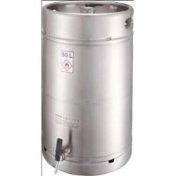 Safety barrel with tap sep. ventilation pressure control valve