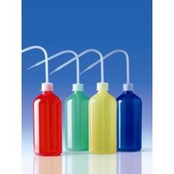Wash bottle 500 ml narrow mouth PE-LD blue