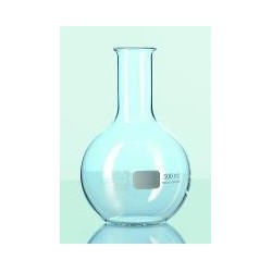 Flat bottom flask 1000 ml Duran narrow neck beaded rim