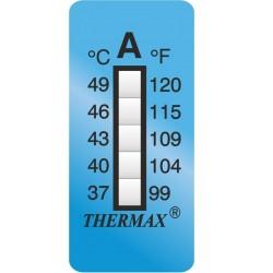 Thermax 5 Level strips 35x15 mm type F measuring range +160 bis
