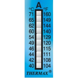 Thermax 10 Level Strips 35x15 mm measuring range +40 to +71°C
