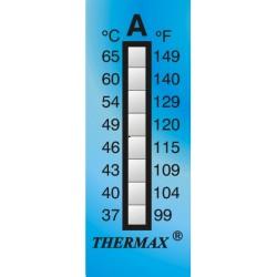 Thermax 8 Level Strips irreversible measuring range +37 to