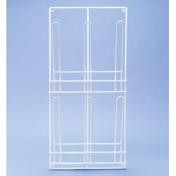 Draining rack for 2x3 urinals Polyehylene white 350x740 mm