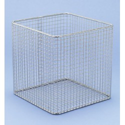 Basket stainless steal PE-white LxWxH 150x150x150 mm
