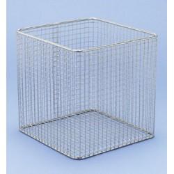 Drahtkorb Draht PE-weiß LxBxH 150x150x150 mm