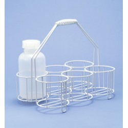 Bottle carrier wire PE-white 4 opennings Ø 100 mm hight 100/330