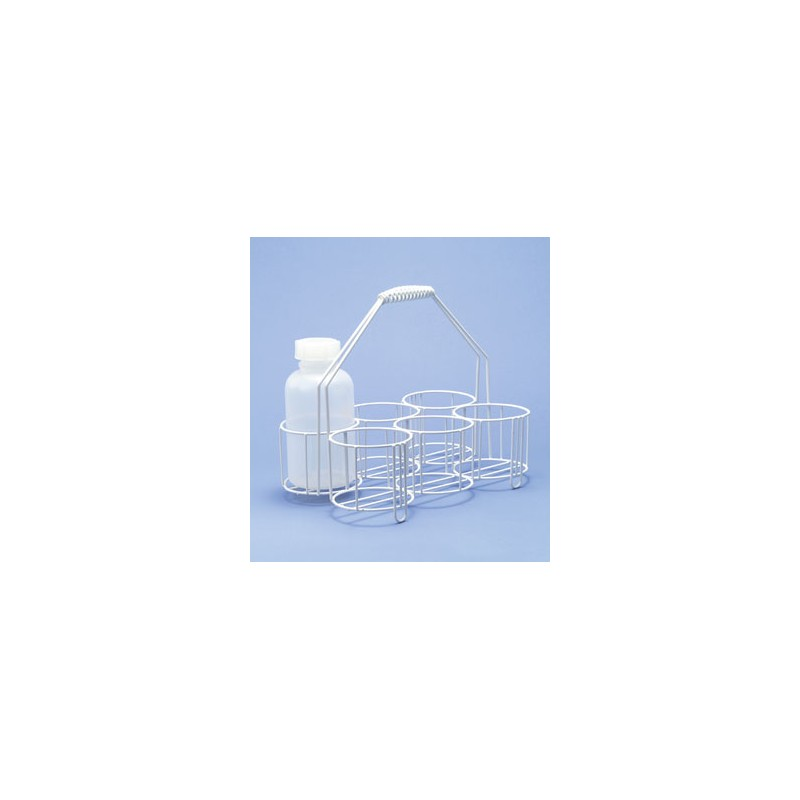 Bottle carrier wire PE-white 12 opennings Ø 80 mm hight 80/320