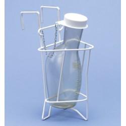 Urinflaschenhalter Drahl PE-weiß