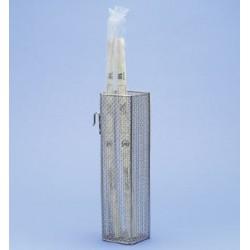 Catheter basket 2 mounting hooks WxDxH 90 x 90 x 350 mm