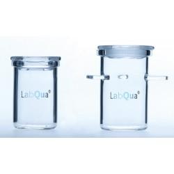 Verkokungstiegel Quarzglas Ø 25 mm m. aufgeschliff. Deckel