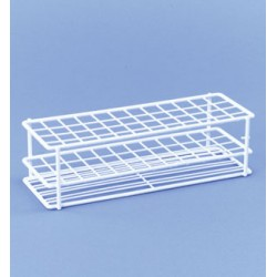 Test tube stand PE - coating white 2x10 Compartment size 18x18