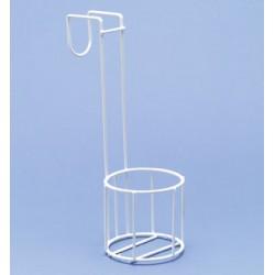 Flaschenhalter Stahldraht PE-weiß Ø 100 mm Höhe 100/330 mm