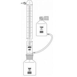 Eudiometer 600 ml: 2/1ml to determine the fermentation behavior