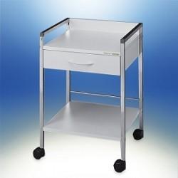 Multipurpose trolley Variocar®-Viva 45 white frame aluminium on