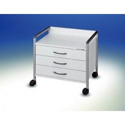 Wózek pod stół Variocar®-Viva 45 na kółkach Ø 50 biały stelaż
