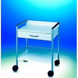 Wózek Variocar®-Viva 60 biały stelaż aluminiowe na rolkach Ø 75