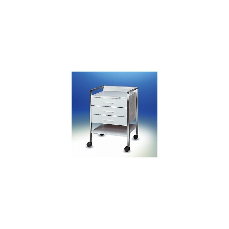 Multipurpose trolley Variocar® 45 white frame chrome on castors