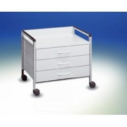Wózek pod stół Variocar® 60 na kółkach Ø 50 mm biały stelaż