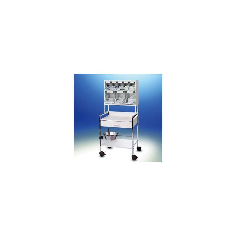 Injection trolley Variocar® 60 PicBox® multi white