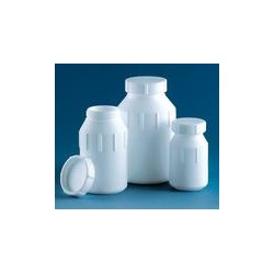 Wide-mouth bottle 250 ml PTFE with screw cap