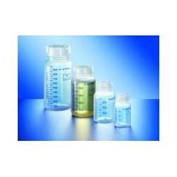 Wide neck bottle PP 250 ml graduated with screw cap pack 10 pcs.