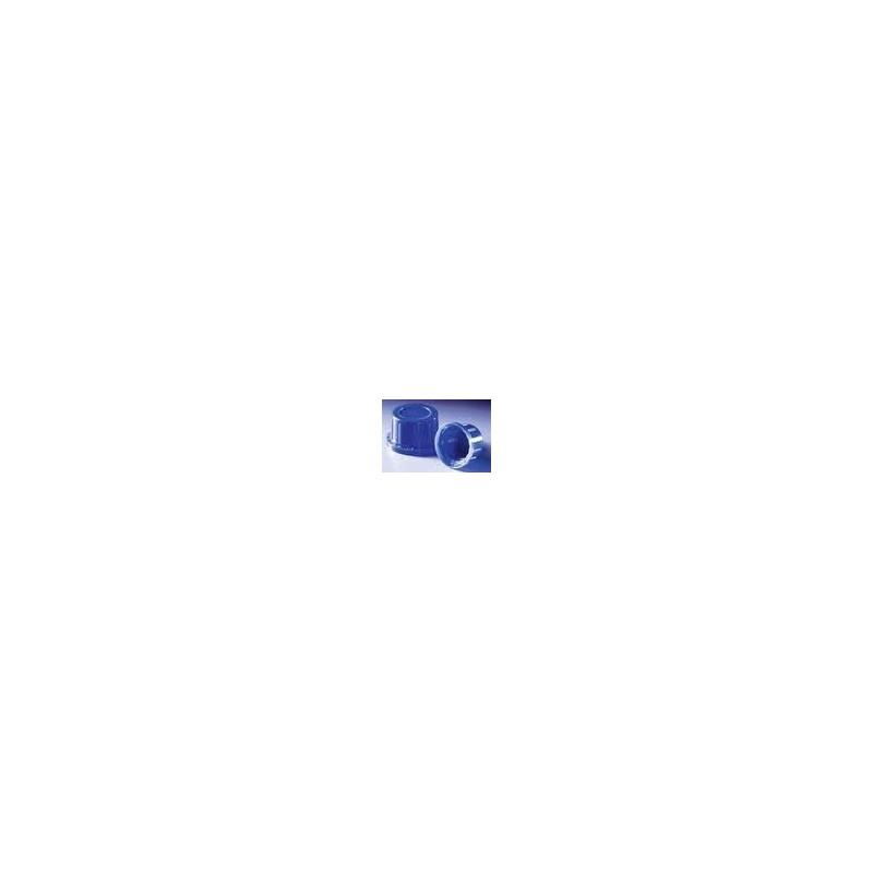 Schraubverschluss PP blau mit Konusdichtung u.