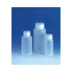 Weithalsflasche 250 ml PE-LD mit Schraubverschluss aus PP