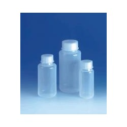 Wide-mouth bottle 250ml PE-LD with screw-cap PP
