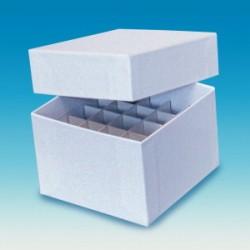 Kryobox weiß aus Karton wasserabweisend ohne Rastereinsatz