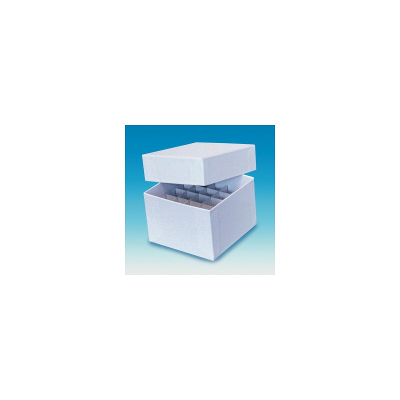 Cryo box white paperboard water-repellent without grid