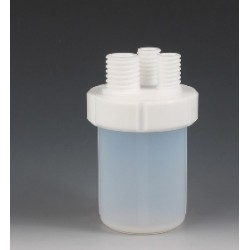 Micro-Reactions vessels PFA/PTFE 500 ml threaded necks 3 x GL25
