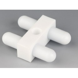 Mieszadełko magnetyczne podwójne PTFE 55 x 12 mm z otworem 8 mm