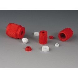 Screw cap PTFE/ETFE with o-ring GL 18 Ø 1,6 mm