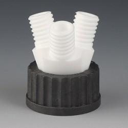 Screw cap GL45 3 Necks GL18 PTFE