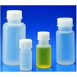 Wide mouth bottle PP 1000 ml with scale autoclavable with cap