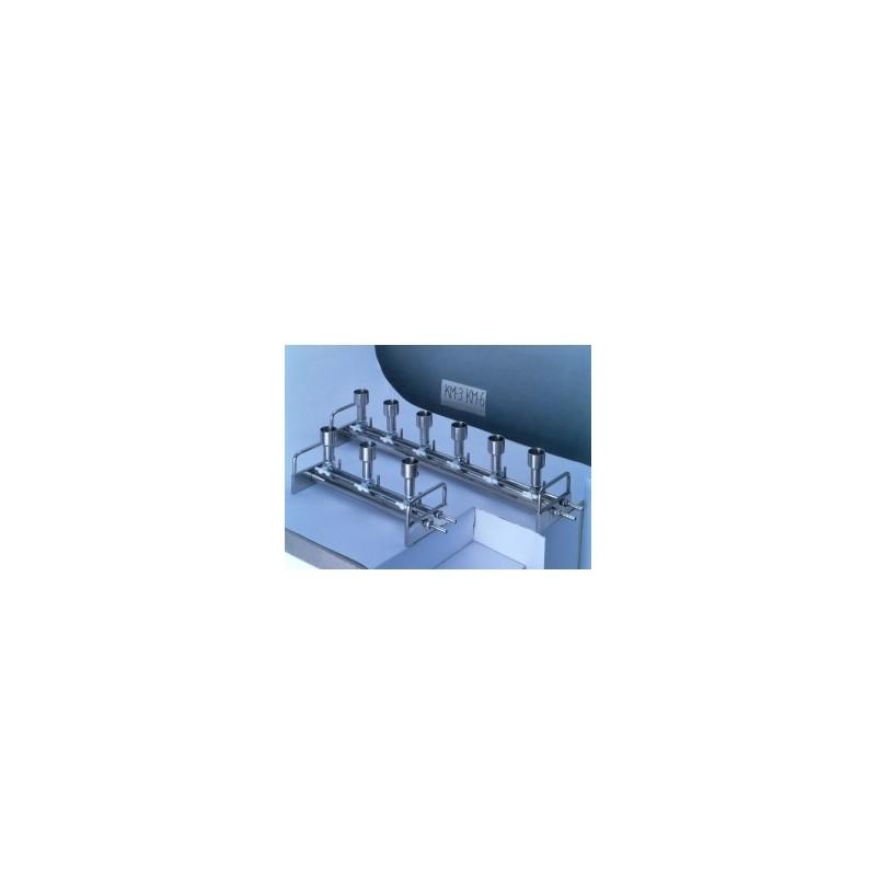 Sześciostaniskowy aparat do filtacji próżniowej KM6N stal
